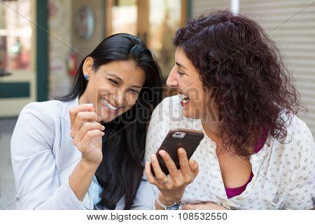Companions Laughing At Texts
