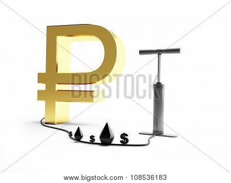 Pomp Ruble Dollar Oil