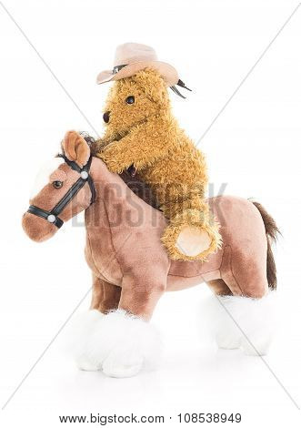 Cowboy Teddy Bear Riding A Horse