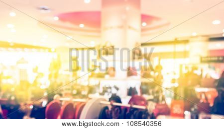 Abstract Blur Background Of  The Shopping Mall
