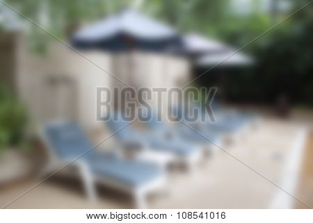 Abstract Blur Outdoor Swimming Pool Background