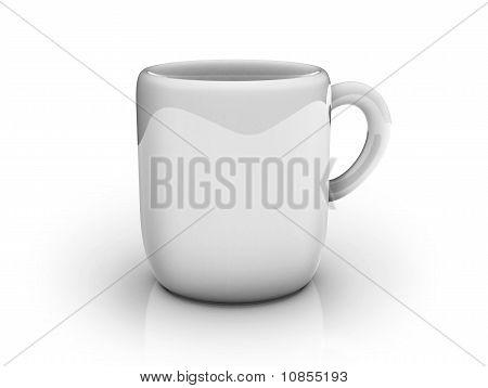 White 3D Mug