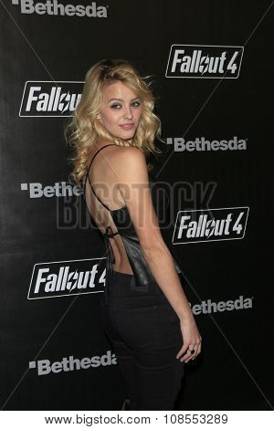 LOS ANGELES - NOV 05:  Gage Golightly at the Fallout 4 video game launch  at the downtown on November 05, 2015 in Los Angeles, CA