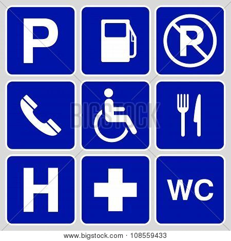 Parking Symbols And Signs Collection