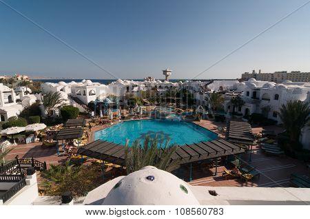 Tourists at Hurghada hotel