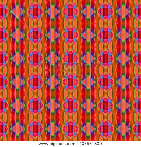 Seamless diamond pattern multicolored