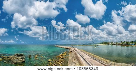 Phu Quoc Dinh Cape pier on a sunny day