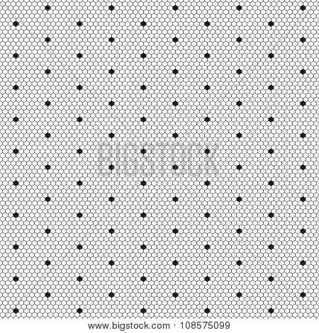 Dot lace seamless pattern net.