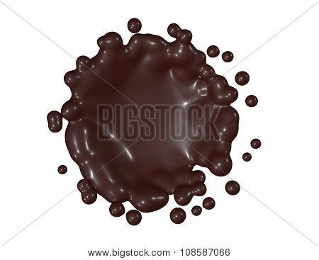 Chocolate Splash Illustration.