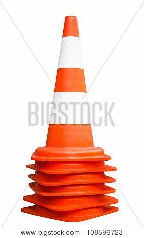 Orange Traffic Cones. Path Included.