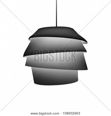 Silhouette of modern design chandelier.
