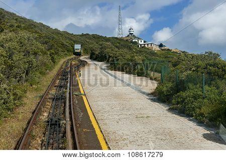 Funicular Flying dutchman railway at cape of good hope
