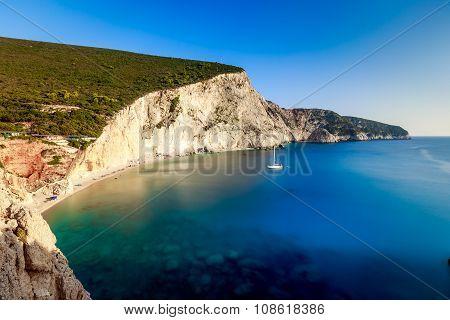 Porto Katsiki beach at Lefkada, Greece