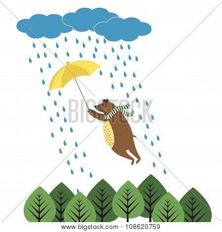 Bear With Umbrella