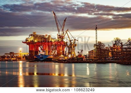Shipyard At Morning