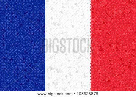 France Flag Mosaic