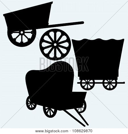 Vintage wagons to transport