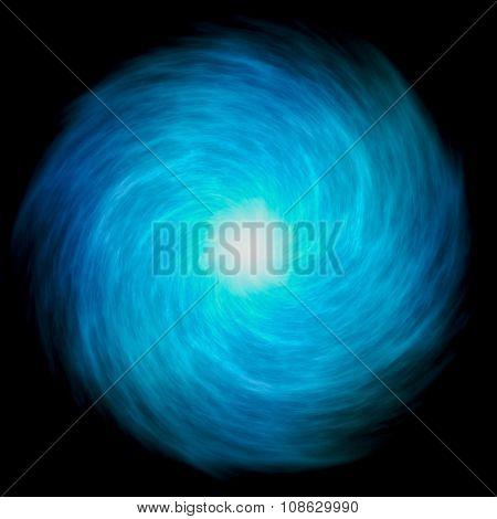 Magical Wormhole blue plasma spiral