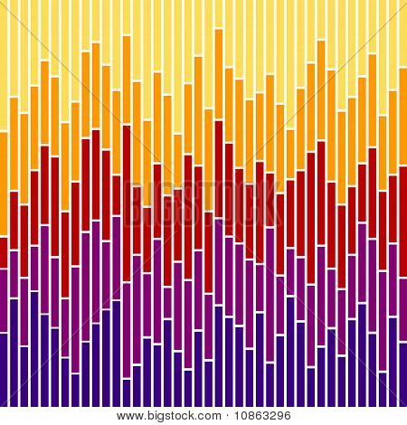 Bar Chart Stripes-sunset Colours