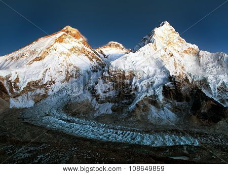 Nightly View Of Mount Everest, Lhotse And Nuptse