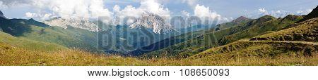 Panoramic View Of Crode Dei Longerin