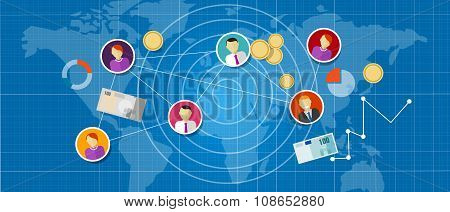 affiliate marketing multi level mlm network sales connected people