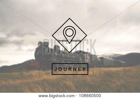 Location Icon Check In Place Destination Concept