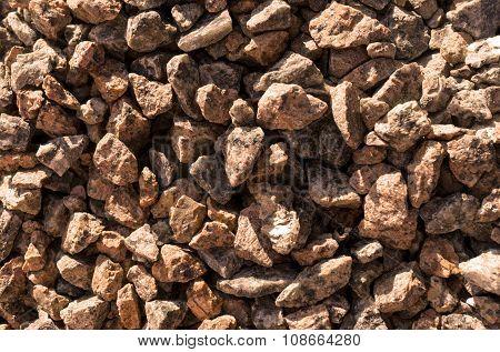 Red Magma Stones Gravel Texture Macro Background