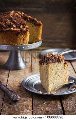 Cake With Chocolate And Nuts Streusel