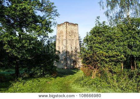 Bismarck tower in bad Salzuflen from 1900