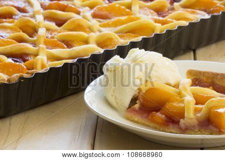 Melba Shortcake with Ice-cream