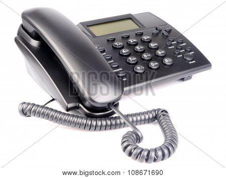 Office Telephone Over White