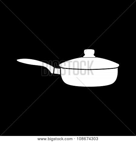The pan icon. Dripping Pan symbol. Flat Vector illustration poster