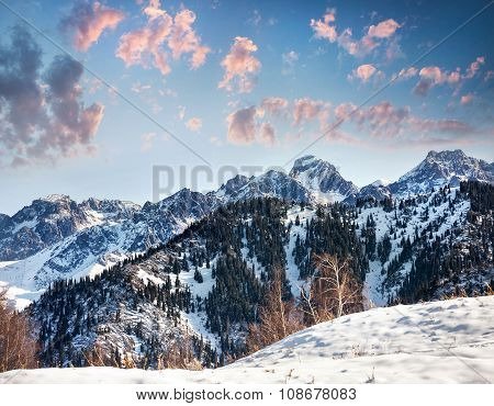 Beautiful Winter Mountain Scenery