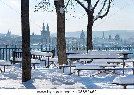 Letna Park, View On Old Town District, Prague (unesco), Czech Republic, Europe