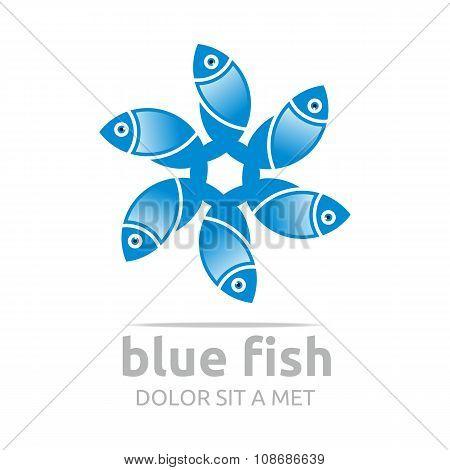 Logo Blue Fish Logo
