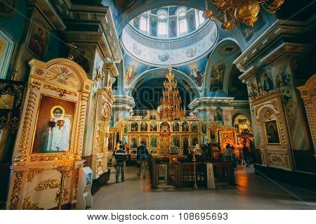 Interior Of Belarussian Orthodox Cathedral of St. Peter and Paul