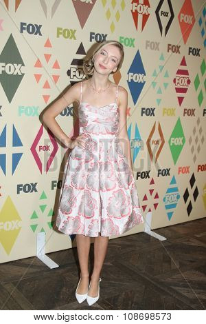 LOS ANGELES - AUG 6:  Hana Hayes at the FOX TCA Summer 2015 All-Star Party at the Soho House on August 6, 2015 in West Hollywood, CA