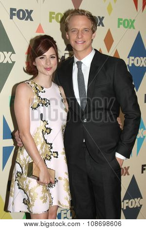LOS ANGELES - AUG 6:  Aya Cash, Chris Greene at the FOX TCA Summer 2015 All-Star Party at the Soho House on August 6, 2015 in West Hollywood, CA