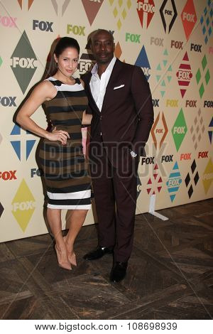 LOS ANGELES - AUG 6:  Jaina Lee Ortiz, Morris Chestnut at the FOX TCA Summer 2015 All-Star Party at the Soho House on August 6, 2015 in West Hollywood, CA