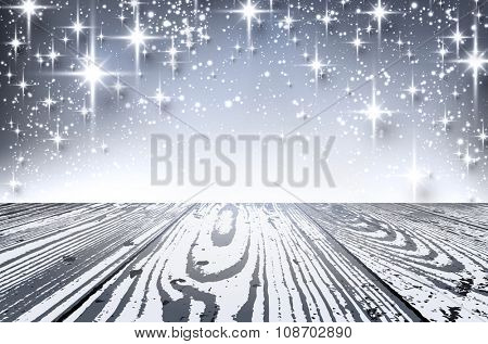 Silver shining background. Vector paper illustration.