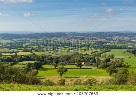 Blackdown Hills east Devon countryside view from East Hill near Ottery St Mary