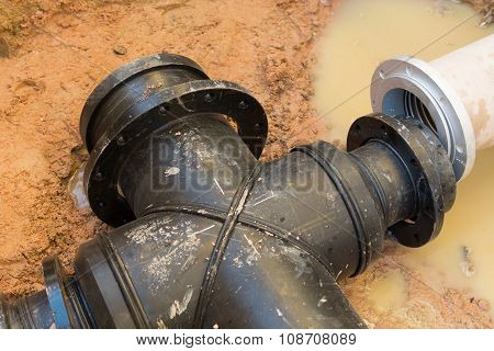 Pipe Connection For Underground Suction Pipe.