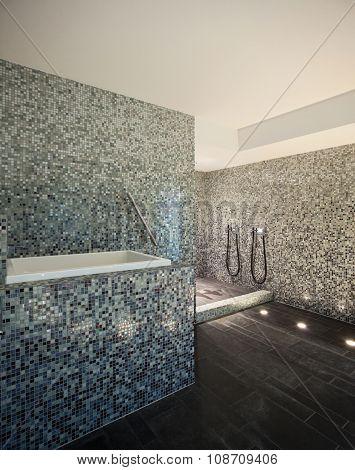 Interior of a modern house, turkish steam bath
