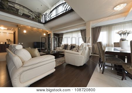 Interior Of A Luxury Multilevel Living Room