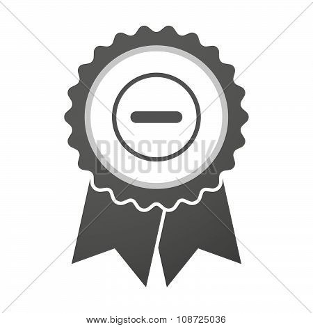 Vector Badge Icon With A Subtraction Sign
