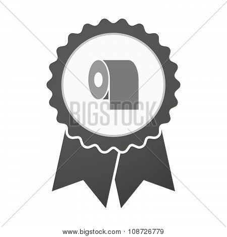 Vector Badge Icon With A Toilet Paper Roll