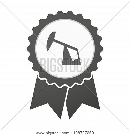 Vector Badge Icon With A Horsehead Pump