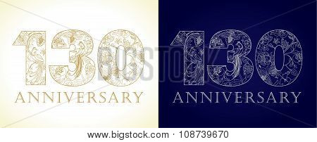 130 anniversary vintage logo.