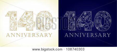 140 anniversary vintage logo.